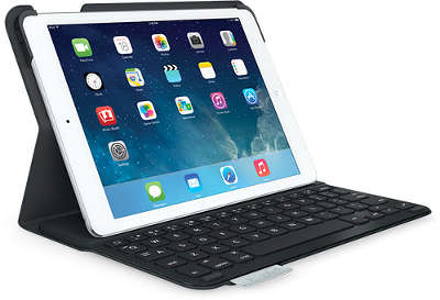 Клавиатура Logitech UltraThin Keyboard Folio для iPad Air, чёрная [920-006017]