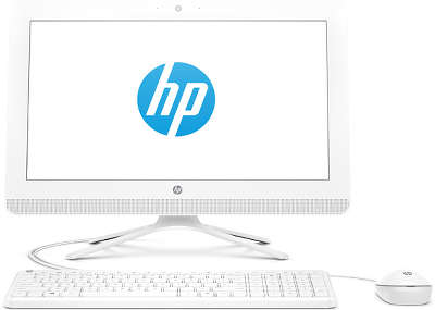 "Моноблок HP 22-b009ur White 22"" J3710/4/500/Multi/W10/Kb+Mouse"