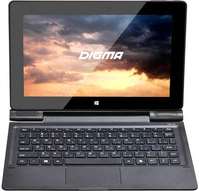 "Планшет Digma EVE 1800 3G + Keyboard Atom x5-Z8300 (1.44) 4C/RAM2Gb/32Gb 10.1"" IPS/3G/WiFi/BT/W10/графит"