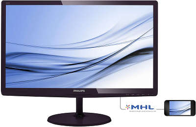"Монитор 21.5"" Philips 227E6EDSD (00/01) темно-бордовый ADS-IPS"