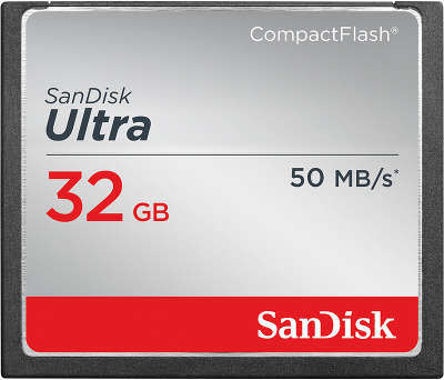 Карта памяти 32 Гб Compact Flash SanDisk Ultra 50MB/s [SDCFHS-032G-G46]