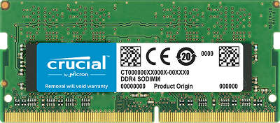 Модуль памяти SO-DIMM DDR4 16384Mb DDR2133 Crucial [CT16G4SFD8213]