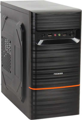 Корпус Sunpro Premier III mATX, 450Вт, черный, USB 2.0, Audio/Mic