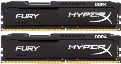 Набор памяти DDR4 DIMM 2*16384Mb DDR2400 Kingston HyperX FURY Black[HX424C15FBK2/32]