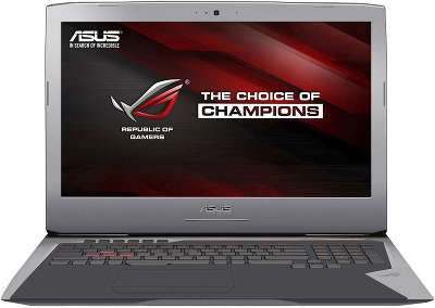 "Ноутбук Asus G752Vt i7-6700HQ (2.6)/8Gb/1Tb+128Gb SSD/17,3""FHD AG IPS/NV GTX970M 3Gb/DVD-SM/WiDi/BT/Win10 Gray"