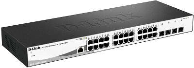 Коммутатор D-Link (DGS-1210-28/ME/A1A) 24-порта 10/100/1000BASE-T/Mini GBIC (SFP)