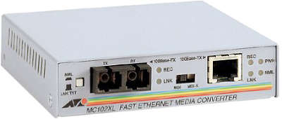 Медиаконвертер Allied Telesis AT-MC102XL-60 100TX RJ-45 to 100FX SC Fast Ethernet