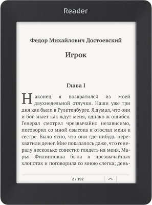 "Электронная книга 6"" Reader Book 2, WiFi, чёрная"
