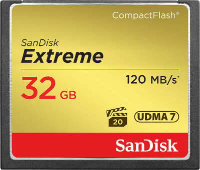 Карта памяти 32 Гб Compact Flash SanDisk Extreme 120MB/s [SDCFXSB-032G-G46]