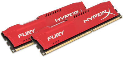 Набор памяти DDR-III DIMM 2*4096Mb DDR1600 Kingston HyperX Fury Red [HX316C10FRK2/8]