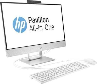 "Моноблок HP Pavilion 24-x007ur 24"" FHD Touch i7-7700T/8/1000/HDG630/WF/CAM/Kb+Mouse/DOS, белый"