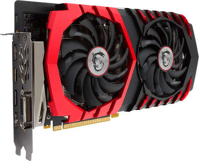 Видеокарта PCI-E NVIDIA GeForce GTX1060 6Gb DDR5 MSI [GTX 1060 GAMING X 6G]