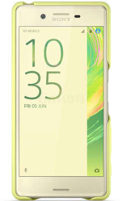 Чехол Sony Style Cover SBC22 для Sony Xperia X, Lime Gold