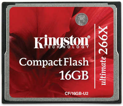 Карта памяти 16 Гб Compact Flash Kingston 266x [CF/16GB-U2]