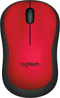 Мышь беспроводная Logitech Wireless Mouse M220 SILENT - RED USB (910-004880)<wbr>
