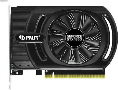 Видеокарта Palit nVidia GeForce GTX1650 StormX OC+ 4Gb DDR5 PCI-E HDMI, 2DP