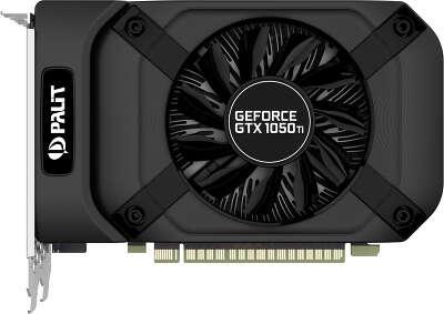 Видеокарта Palit nVidia GeForce GTX1050Ti StormX 4Gb DDR5 PCI-E DVI, HDMI, DP
