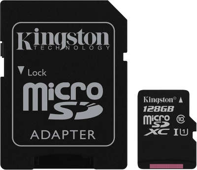 Карта памяти 128 Гб Micro SDXC Kingston Class 10 UHS-I [SDC10G2/128GB]