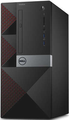 Компьютер Dell Vostro 3650 MT i3 6100 (3.7)/4Gb/500Gb/R 705 2Mb/W10H/GbitEth/Kb+Mouse