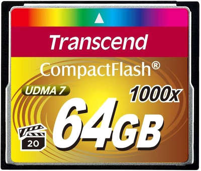 Карта памяти 64 Гб Compact Flash Transcend Ultra speed 1000x [TS64GCF1000]