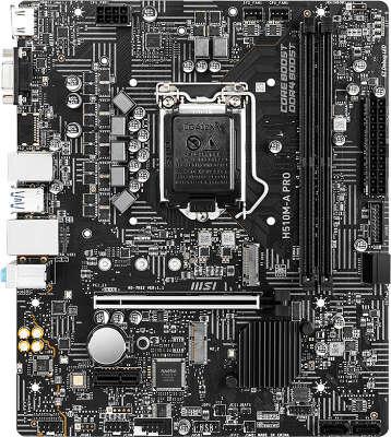 Материнская плата mATX LGA1200 MSI H510M-A PRO