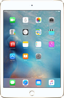 Планшетный компьютер Apple iPad mini 4 [MK712RU/A] 16GB Wi-Fi + Cell Gold