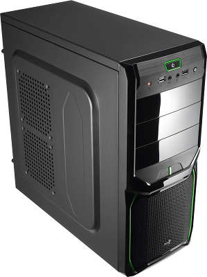 Корпус Aerocool V3X Advance Evil Green Edition , ATX, без БП, 1х USB 3.0, 1х USB 2.0, в комплекте 1х 120мм gre