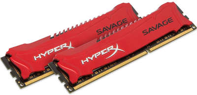 Набор памяти DDR-III DIMM 2*8192Mb DDR2400 Kingston HyperX Savage Red [HX324C11SRK2/16]