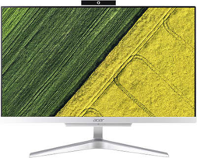 "Моноблок Acer Aspire C22-860 21.5"" Full HD P 4405U/4/1000/HDG/CR/WF/BT/CAM/W10/Kb+Mouse, серебристый"