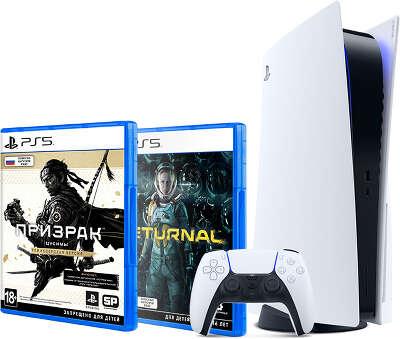 Консоль Sony PlayStation 5 в комплекте с играми Призрак Цусимы Режиссёрская версия и Returnal