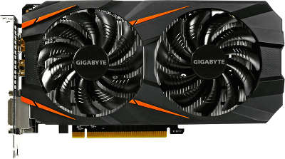 Видеокарта GIGABYTE nVidia GeForce GTX1060 WindForce 6Gb DDR5 PCI-E 2DVI, HDMI, DP